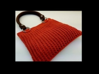 CROCHET How To #Crochet Ribbed Handbag Purse TUTORIAL #362