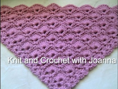 Crochet Pattern * PRETTY SHELL PATTERN FOR A SHAWL*