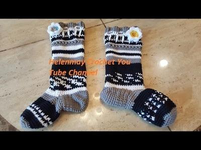 Crochet Quick and Easy Beginner Knee High Socks Part 2 Missing Heel Portion DIY Video Tutorial