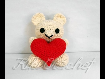Crochet Valentine's Day Teddy Bear (pt3.3)