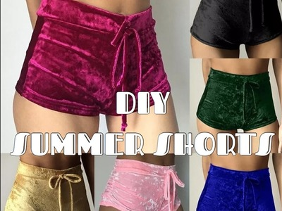 DIY EASY SUMMER SHORTS | BOOTY SHORTS |No Zipper No Elastic