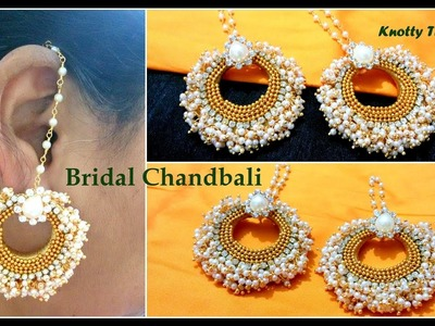 | DIY | How to Make Bridal Chandbali Earrings At Home Using Loreals | Tutorial |