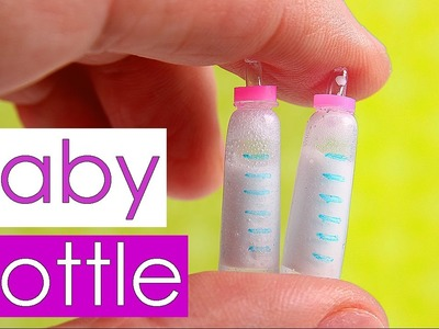 DIY miniature baby bottle with milk