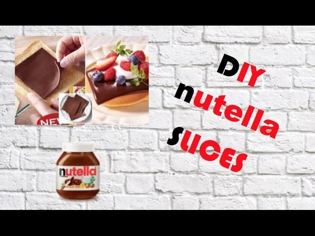 DIY NUTELLA SLICES!! HOW TO MAKE NUTELLA SLICES