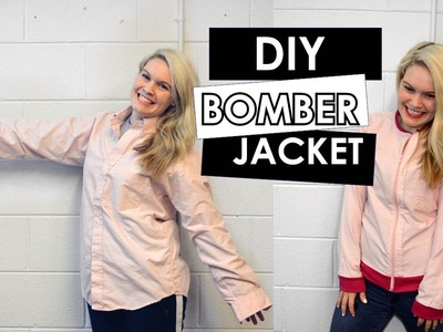 DIY TUTORIAL HOW TO MAKE A BOMBER JACKET II DUCKINYELLOW