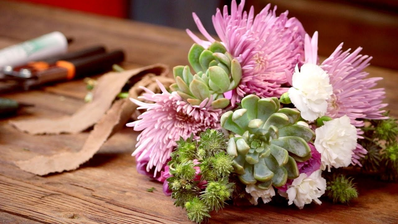 DIY Video - How to Create a Succulent a Stem for Flower Arranging