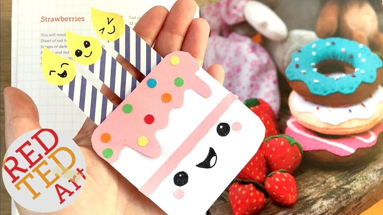 Easy Birthday Cake Bookmark DIY - Paper Bookmark Designs ...