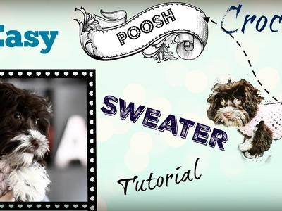 Easy Crochet Dog Sweater Tutorial