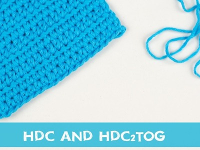 Easy Crochet Tutorial - How To Make a HDC and HDC2TOG | Croby Patterns