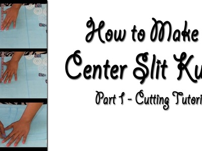 Front Center Slit Kurti Cutting | How to make Front Open Slit Kurti