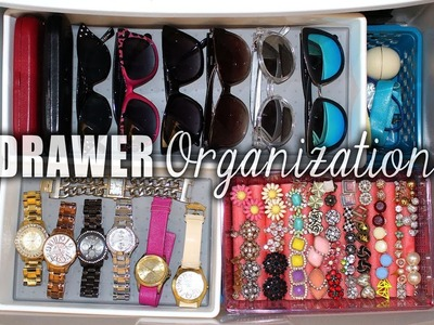 How I ORGANIZE my Jewelry & Sunglasses in a DRAWER || Lucykiins