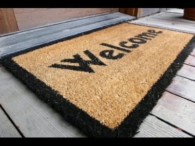 How to create your own door mat of old waste clothes   Recycle Cloth