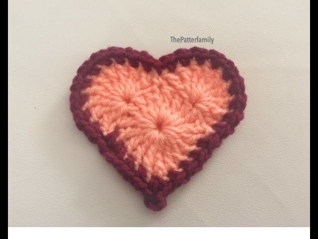 How to Crochet a Heart Pattern #6│by Fate ✌️❤