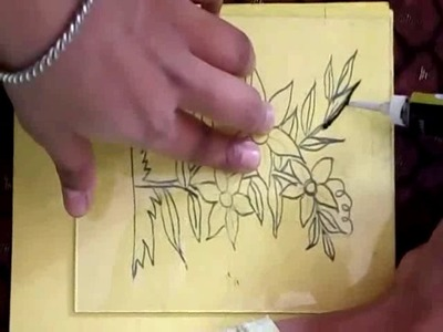 How to do glass painting.