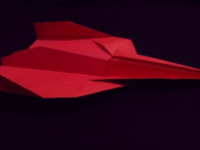 How To Fold The World Record Paper Airplane - Paper Airplane That Flies Far