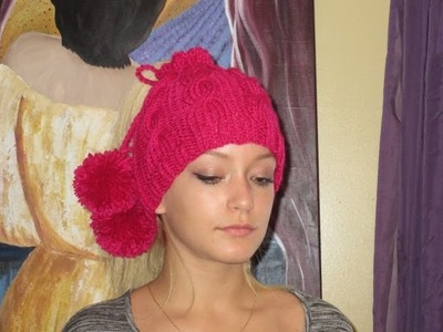 How to knit messy bun hat or collar for beginners