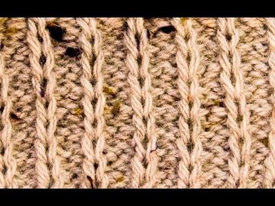 How to knit Slip Stitch Rib Purl 2 Knit 1 WIKA Crochet