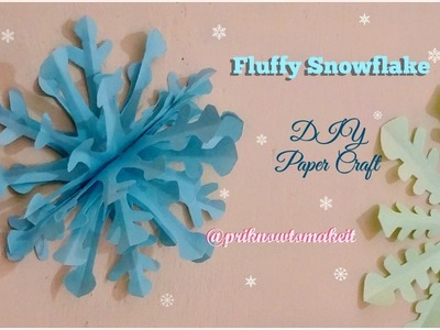 How to make a 3D paper snowflake step by step || fluffy snowflake