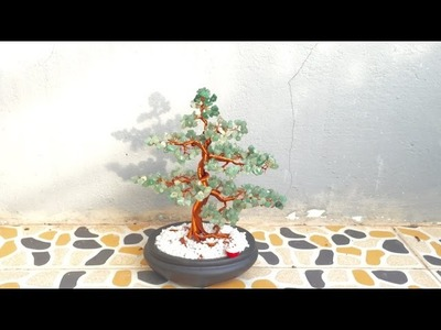 How To Make a Bonsai Tree With Wire Copper And Gemstone
