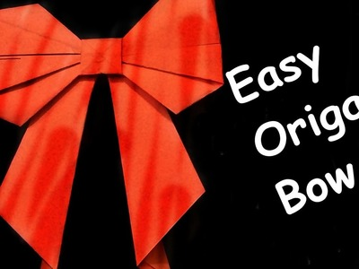 How to make a bow.ribbon || step by step || origami bow || origami art