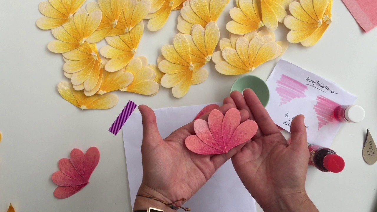 How to make a Crepe Paper Frangipani