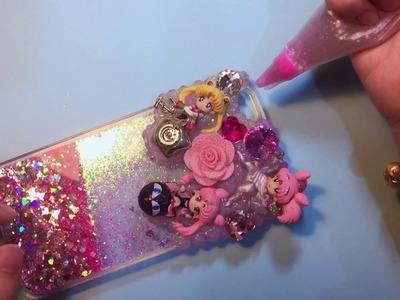 How to make a DIY Sailormoon Decoden phone case? For iPhone&Samsung.