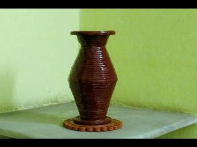 How to make a newspaper flower vase? ( UNIQUE )