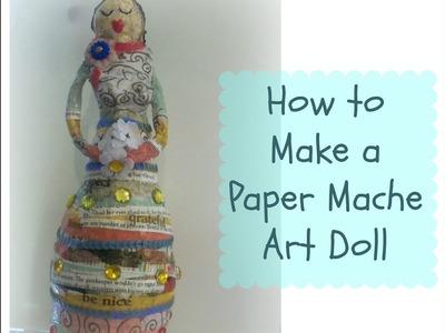 How to make a paper mache art doll.mixed media art dolls. Giveaway