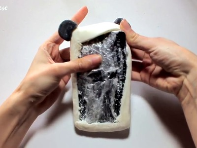 How to make a SILICONE PHONE CASE - Kawaii panda by maynterest official