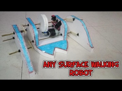 How to make a simple walking robot at home(Can walk on ANY surface)