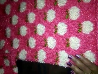 How to make apple design sweater.