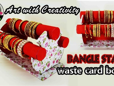 How to make bangle stand | Easy steps | DIY | Art with Creativity 137