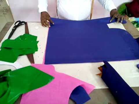 How to make cap hands or dabble hands cutting in Telugu