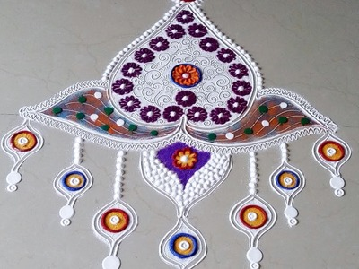 How to make easy and innovative rangoli designs.