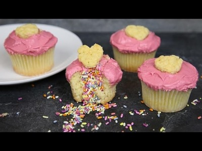 How to make Foodstirs Valentine's Day Sprinkled with Love Cupcake DIY baking kit