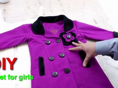 How to make jacket for girls Very beautiful (DIY)