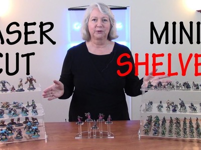 How to Make Laser Cut Display Shelves for Miniature Models