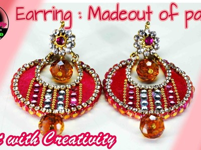 How to make Paper Earrings | made out of paper | Art with Creativity 136