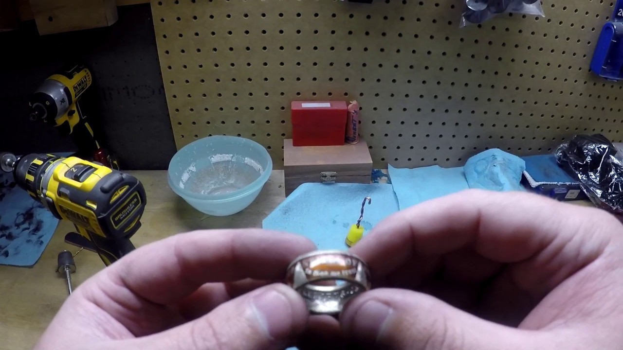 How To Make Powder Coated Coin Rings Pt. 2 - Applying The Powder