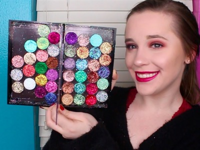 HOW TO MAKE PRESSED GLITTER SHADOWS | Lauren House