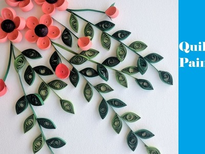 How to make Quilling Painting | Flowers | Tutorial