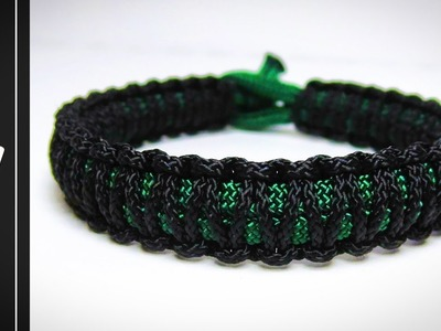 How to make The Mini Cobra Stitch Paracord Survival Bracelet [WITHOUT BUCKLE] [UWA ORGINAL]