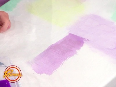 How to Paint Fabric with Just Watercolors and Sponges