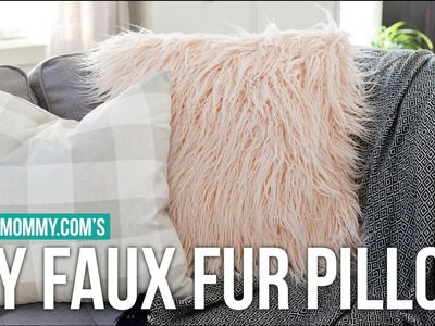 How to Sew a DIY Faux Fur Pillow Cover + Faux Fur Sewing Tips