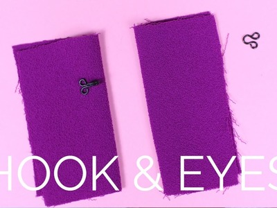 How To: Sewing Hook & Eyes