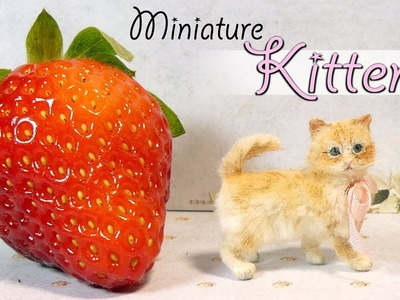 Miniature Kitten Tutorial. DIY Miniature Cat Dolls.Dollhouse