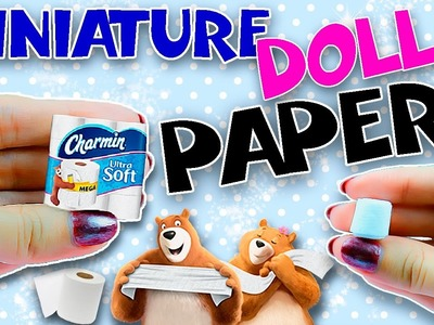Realistic Miniature Toilet Tissue DIY | Mini Bath Accessories  | Dollhouse Tutorial