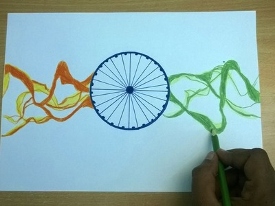 Republic Day Drawing - How To Make A Greeting Card - Republic Day 2017