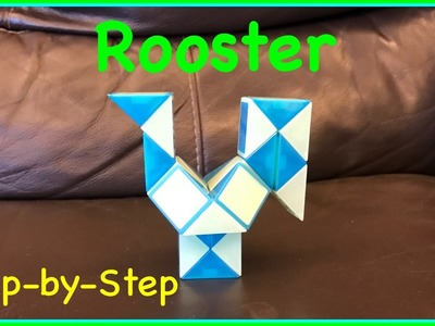 Rubik's Twist or Smiggle Snake Puzzle Tutorial: How to Make a Rooster Shape Step by Step