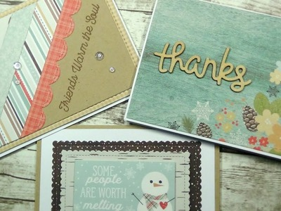 3 CARDS | 1 6x6 PAPER PAD | Winter Wonderland by Simple Stories
